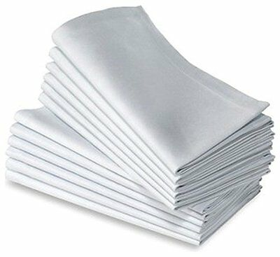 "Cotton Craft Napkins, 36 Pack Oversized Dinner Napkins 20x20"" White, 100% Cotton"