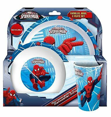 Spearmark 3 Piece Ultimate Spider-Man Tumbler Bowl and Plate Set