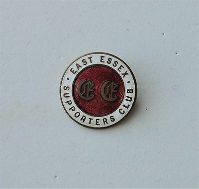 Vintage Eat Essex Supporters Club fox hunting pin badge enamel Horse riding