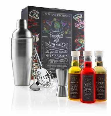 Ekitch Cocktail Kit Gift Set Including 700ml Shaker Muddling Spoon Double