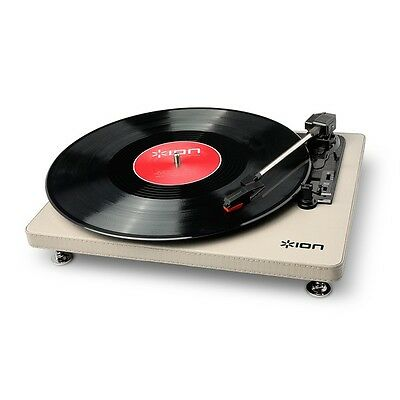 Ion Compact LP Cream USB Turntable Record Player with Digital Vinyl Conversion