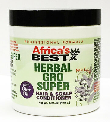 Africa's Best Herbal Gro Super Hair & Scalp Conditioner With Olive Oil 149g