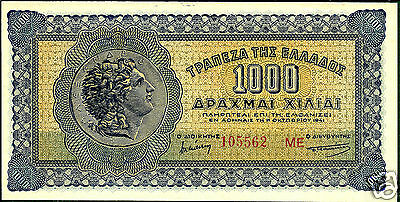 Greece P117b 1941 1000 Drachmai Choice Crisp Uncirculated