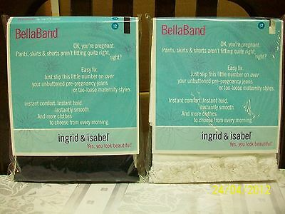 Ingrid & Isabel Bella Band Everyday Maternity Lot of 2 Black White Lace Size 1