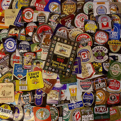 100 British & Irish Pub Famous Brand BEER BOTTLE LABELS   all different