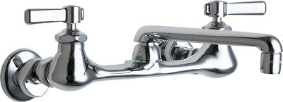 """Chicago Faucets 540-LDABCP - 8"""" Wall Mount Faucet with 6"""" Swing Spout"""