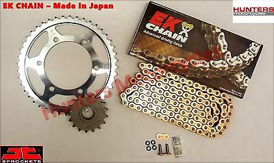 Honda CBR1000F 1989 to 1995 EK Gold X-Ring Chain & JT Sprockets Kit Set