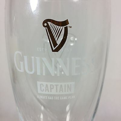 Limited Edition Guinness Pint Glass Rugby World Cup 2015 - CAPTAIN