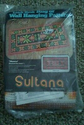 """Vtg Sultana """"Morocco"""" Latch Hook Rug or Wall Hanging Pattern Kit #79813~New"""