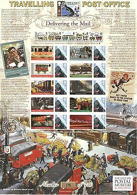BC-307 2010 Travelling Post Office History of Britain 62 Business Smilers Sheet