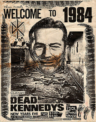 DEAD KENNEDYS 1984 Show Punk Vintage Poster Print Canvas Giclee Annex Art TSOL