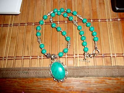 Jewelry Lot Turquoise Jade, Pins, Necklaces Many Pieces Nice