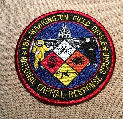 US FBI Washington DC Field Office National Capital Response Squad Patch