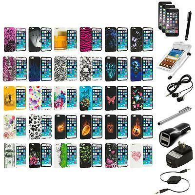 For Apple iPhone 6 (4.7) TPU Design Case Cover+10X Accessory Bundle