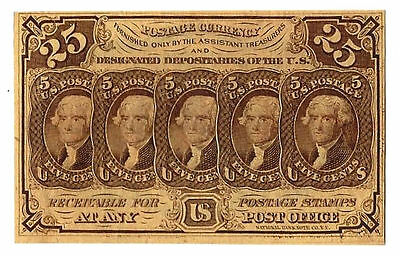 FR 1281 25 Cent First Issue Fractional Currency High grade clean note
