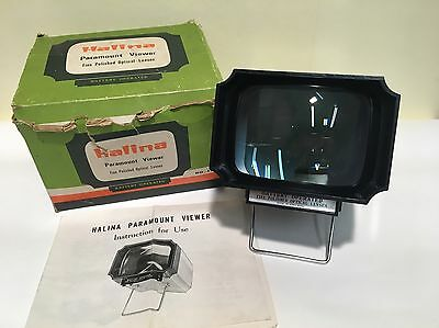 "Vintage Halina ""Paramount"" Slide Viewer for photographic slides working & boxed"