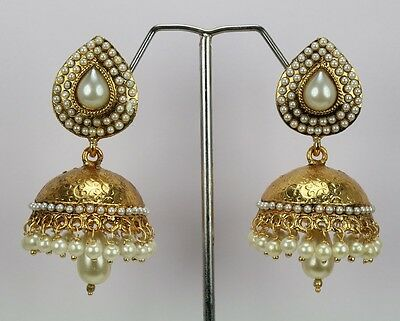 Pearl Dangling Indian Traditional Fashion Jewelry Earring Jhumka