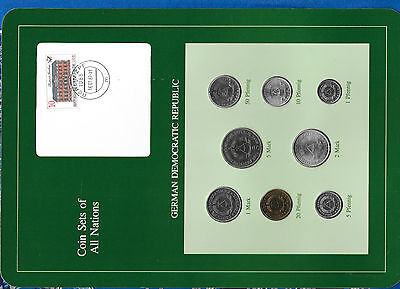 Coin sets of all nations GDR East Germany Dem. Rep. 1979 - 1981 UNC w/card