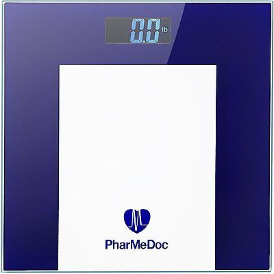PharMeDoc Digital Weight Scale – Precision Step-on Scale with Easy to Read LCD