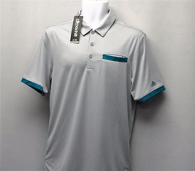 New Mens Adidas Climachill Camo pocket short sleeve golf polo shirt Large AE4058