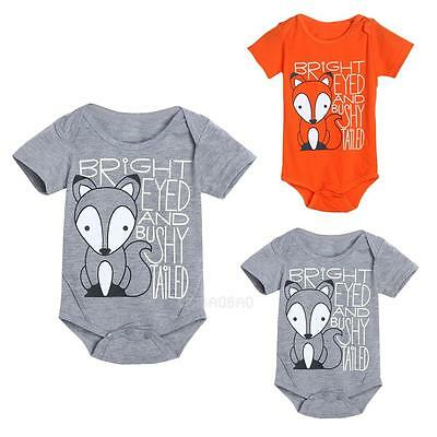 Lovely Newborn Baby Girls Boy Fox Romper Bodysuit Playsuit Outfits Clothes 0-18M