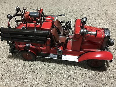 Vintage Look  Fire Department So Prairie  Fire Truck / Vehicle Unusual Find