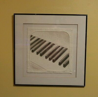 RHAPSODY Cast Paper signed WESS Wesley Smith music keyboard art contemporary