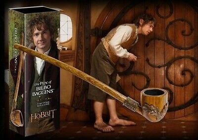 "The Hobbit Lotr Official Functional Prop Replica 9"" Pipe Of Bilbo Baggins New"