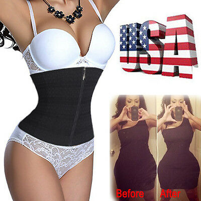 US New Women Waist Slim Cincher Tummy Control Shaper Belt Long Torso Corset