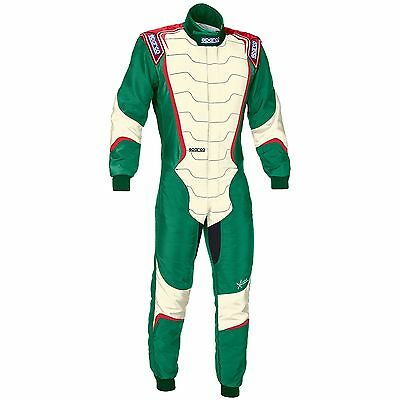 Sparco X-Light KX-8 FIA Approved Karting / Go Kart Suit In Green - Size 48