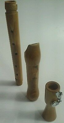 Gill Wood/wooden Tenor Recorder 3 Piece Maple? 1 Key
