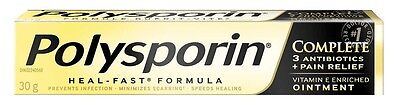 Polysporin Complete Antibiotic Ointment Heal Fast Formula 30g NEW!!