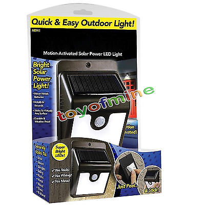 Ever Brite Led Outdoor Light AS ON TV Everbrite Motion Solar Powered&Wireless