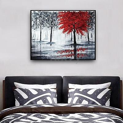 Red Tree Forest Abstract Wall Art Decor Picture Oil Painting Unframed On Canvas
