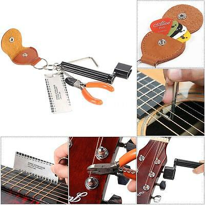 5-in-1 Guitar Accessories Kit Tool Set Setup String Winder Bridge Pin Peg V4M6
