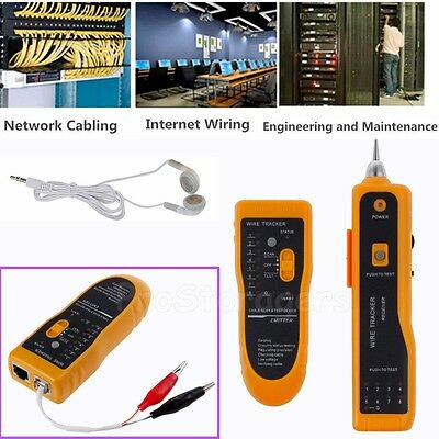 Telephone Lan Network Tester RJ45/11 Tracker Cable Wire Finder Tracer Toner Test