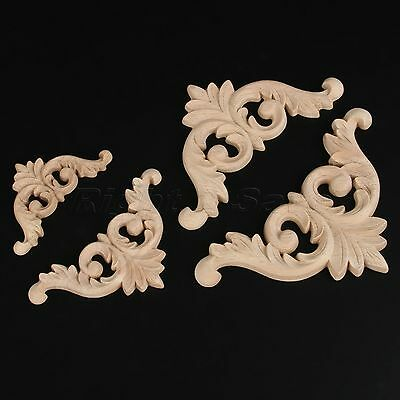 Beautiful Art Decor Woodcarving Decal Furniture Door Frame Corner Onlay Applique