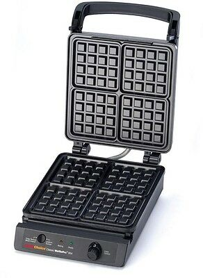 Square Checkered Belgian Waffle Maker Iron Homemade Adjustable Temperature LED
