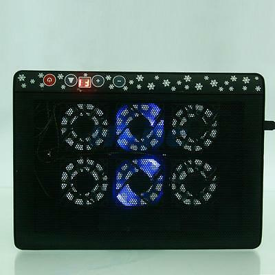 """LED USB 6 Fan Speed Adjust Cooling Cooler Pad Stand for 12""""-17"""" Laptop Notebook"""
