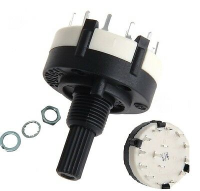 1pcs AC 125V RS26 1 Pole Position 12 Switch Band Rotary Channel Thread Plastic U