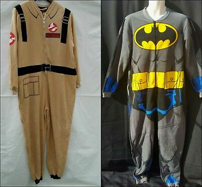 Bnwt Primark Mens All In One Sleepsuit Pyjamas Batman Ghostbuster Reduced