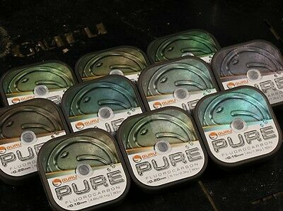 New For 2017 - Guru Pure Fluorocarbon Line / Hooklink - All The Sizes