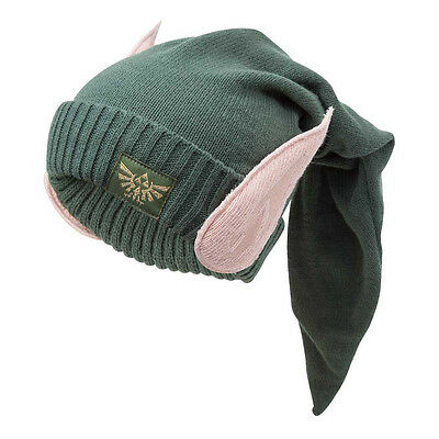 NEW! Nintendo Legend Of Zelda Eleven Beanie Hat With Ears One Size Green
