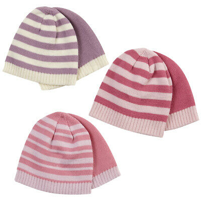 6 Pack Baby Babies Girls Beanie Hats Winter Warm Infant 0-24m Bundle Multipack