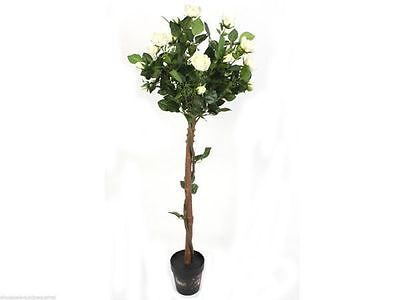 4 x Rose Trees Potted Plant 120cm Artificial Decor Everlasting Wholesale lot