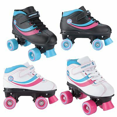 Osprey Childrens Adults Disco Quad Roller Skates With Fastening Straps