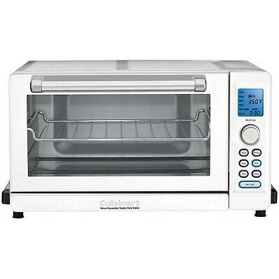 Cuisinart TOB-135W Deluxe Convection Toaster Oven Broiler, White NEW