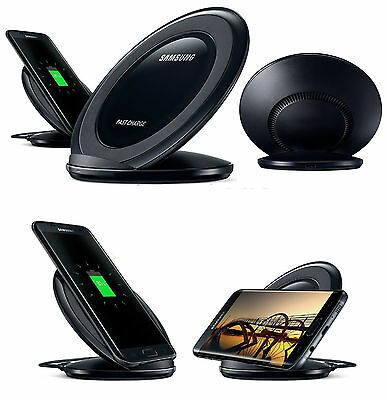 For Samsung Galaxy S6/S7/Edge/Note 5 Fast Qi Wireless Charger Pad With Stand