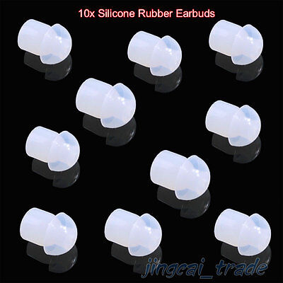Wholesale 10 x Clear Silicone Rubber Earbud For Radio Acoustic tube Earpiece