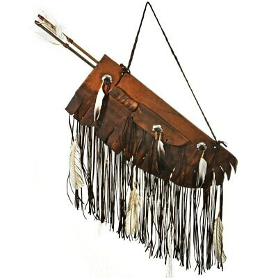 NATIVE AMERICAN Handmade Teton Sioux Quiver and Dagger Artifact Buckskin Leather